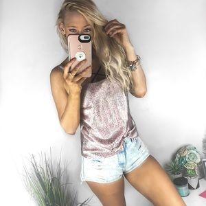 🌸Victoria's Secret Pink Boho Paisley Silky Tank🌸